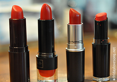 My Favorite Red Lipsticks | fridaylovesong.net